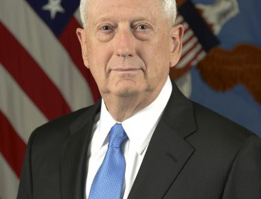 James N. Mattis, the 26th Secretary of Defense, poses for his official portrait in the Army portrait studio at the Pentagon in Arlington, Virginia, Jan 25, 2017.  (U.S. Army photo by Monica King/Released)
