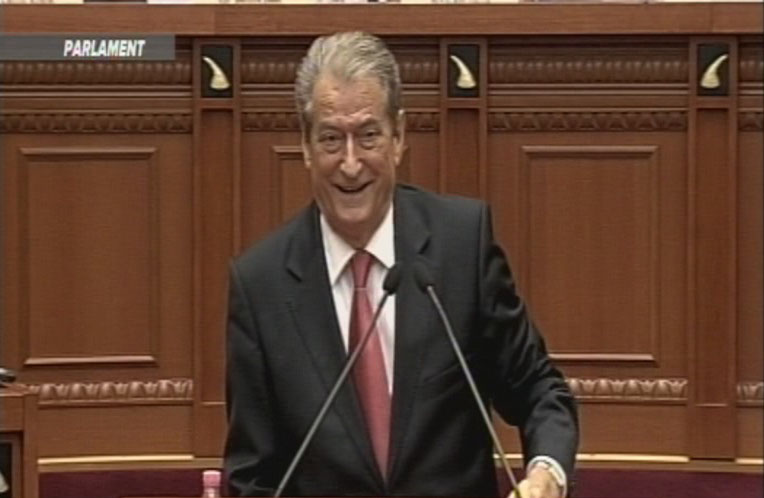sali berisha kokaina parlament