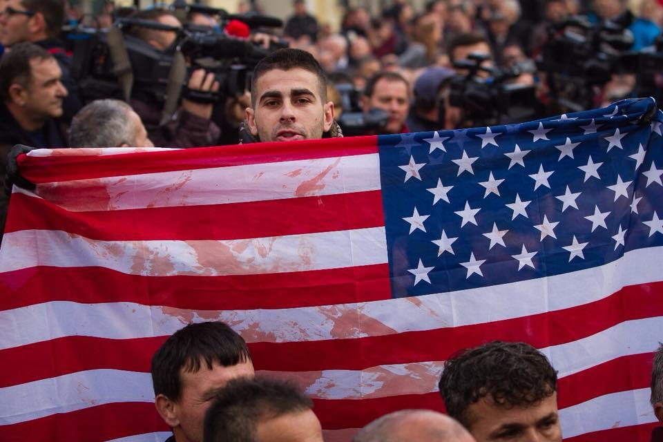 flamuri i SHBA me gjak