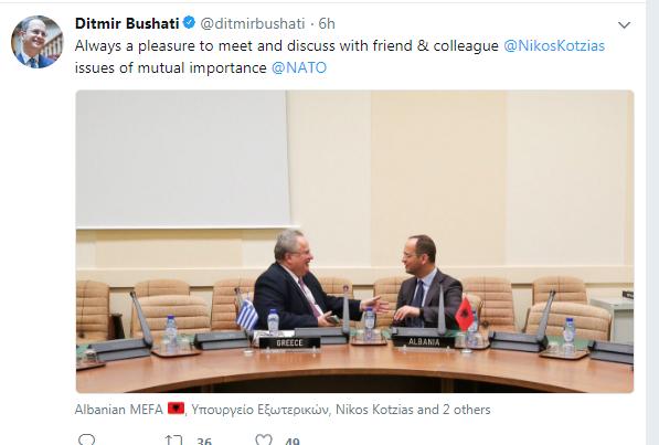 Bushati twitter