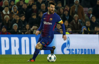Leo Messi during the UEFA Champions League match between FC Barcelona v Sporting CP, in Barcelona, on December 05, 2017. (Photo by Urbanandsport/NurPhoto/Sipa USA)