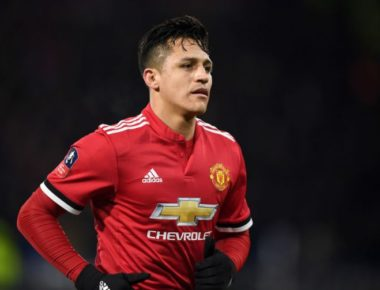 HUDDERSFIELD, ENGLAND - FEBRUARY 17:  Alexis Sanchez of Manchester United during the The Emirates FA Cup Fifth Round match between Huddersfield Town and Manchester United on February 17, 2018 in Huddersfield, United Kingdom.  (Photo by Gareth Copley/Getty Images)