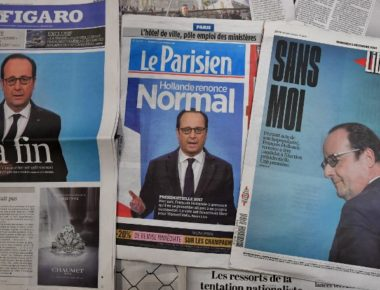 FRANCE-POLITICS-MEDIA-VOTE-HOLLANDE