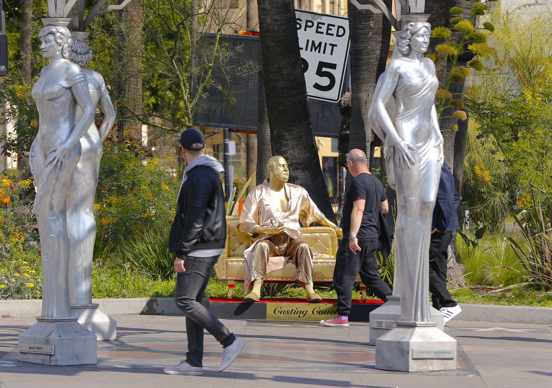 Oscars Weinstein Statue, Los Angeles, USA - 01 Mar 2018