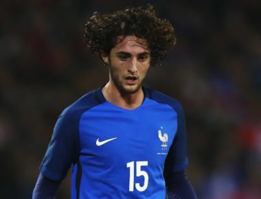 LENS, FRANCE - NOVEMBER 15:  Adrien Rabiot of France in action during the International Friendly match between France and Ivory Coast held at Stade Felix Bollaert Deleis on November 15, 2016 in Lens, France.  (Photo by Dean Mouhtaropoulos/Getty Images)