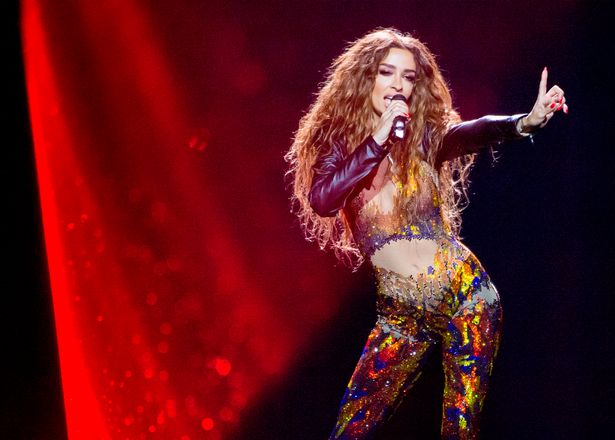 Eleni-Foureira-at-the-rehearsals-of-the-first-semi-final-of-the-Eurovision-Song-contest-2018-in-Lisb