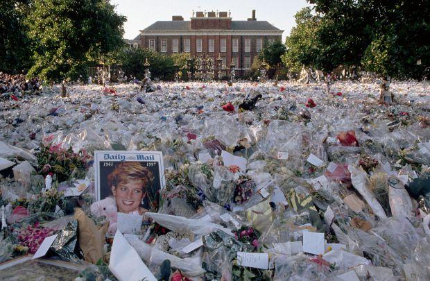 Bouquets Outside Kensington Palace