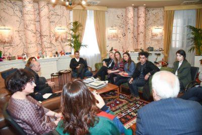 thumbnail_Kryebashkiaku Erion Veliaj gjate pritjes me kryetaren e   AIDSH%2c Gentjana Sula (3)