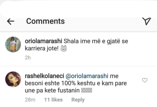 Oriola provokon me foton hot, befason Rasheli: Unë e kam