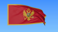 Auto Waving Flag Of Montenegro Seamless Loop Exact Size Blue Background Part Of All Countries Set 4k Prores With Alpha Rwo9wzjl F00001538461882