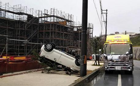 Typhoon Trami Hits Southern Japan To Move Northward In Japan
