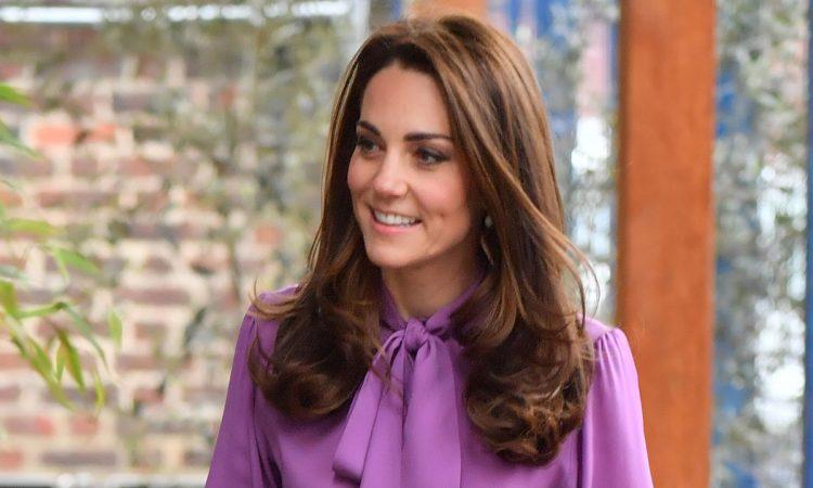 Kate Middleton Purple Top T