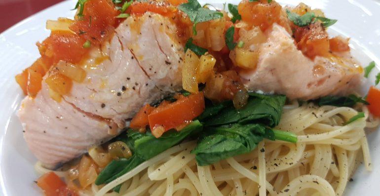 Salmon Me Spageti