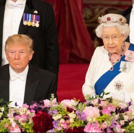 President Donald Trump Listens As Queen Elizabeth Ii Makes News Photo 1147874497 1559652204