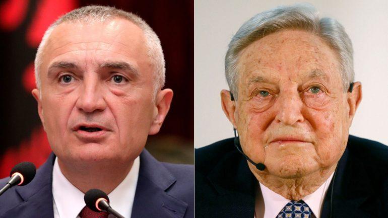 Ilir Meta George Soros Ap Reuters