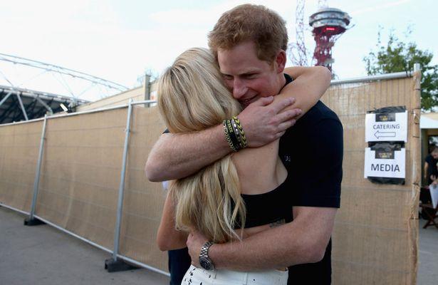 Prince Harry Hugs Ellie Goulding