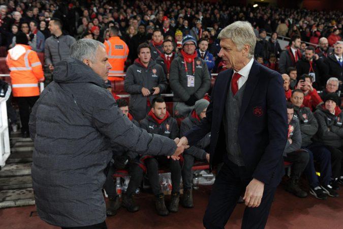 Jose Mourinho Arsene Wenger 021217