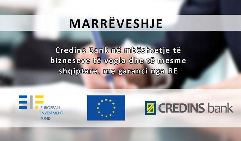 Credins Bank Dhe Fondi Europian I Investimeve (eif)