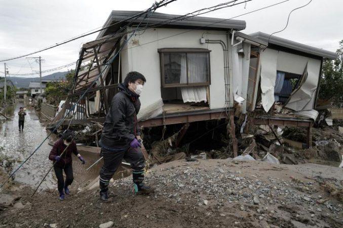 Aftermath Of Typhoon Hagibis, In Japan