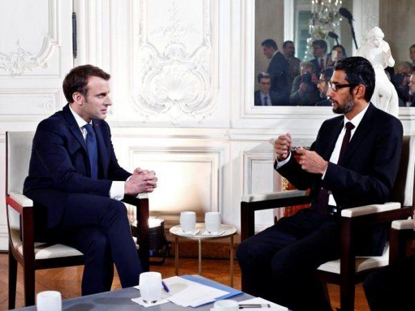 Macron Google 696x522
