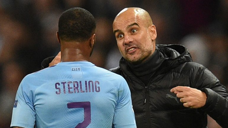 Raheem Sterling Pep Guardiola Manchester City 2019 20 1isuwai7yaz7j1836atyq51fxi