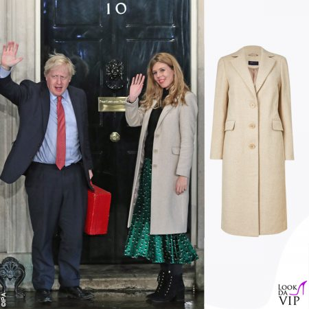 Boris Johnson Carrie Symonds Election Day Cappotto Marks And Spencer 6 (1)