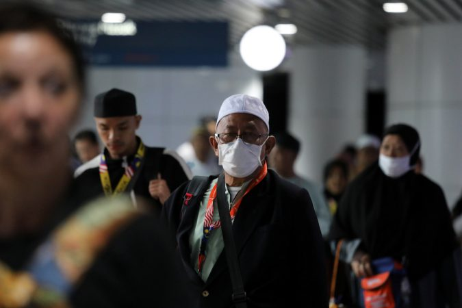 Passengers Wearing Masks Are Seen At Kuala Lumpur International Airport In Sepang