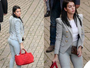 Gerorgina Rodriguez Sanremoleggings Alo Yoga Blazer Balmain Borsa Prada Tracolla Lv Scarpe Nike 7