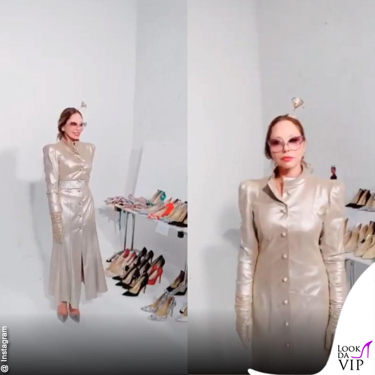 Ornella Muti Outfit Ulyana Sergeenko 3