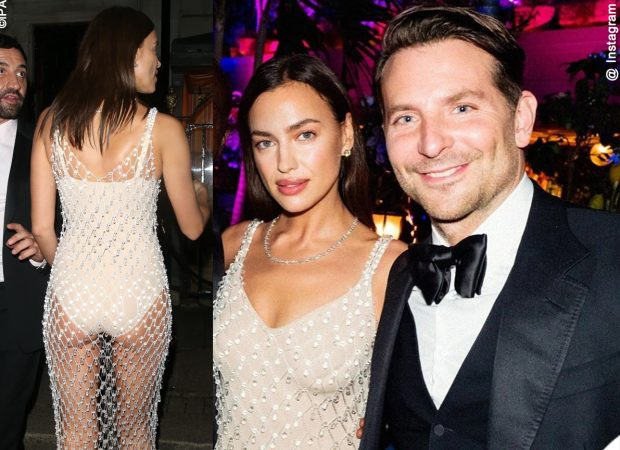 Irina Shayk Bradley Cooper British Vogue X Tiffany Party Bafta 2020 Outfit Burberry 2 (1)
