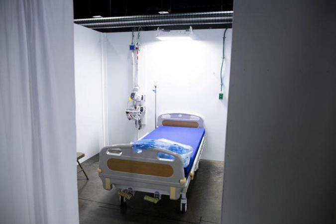 Part Of The Walter E. Convention Center Converted To An Alternate Care Site To Support The District Of Columbia's Coronavirus Covid 19 Medical Surge Response