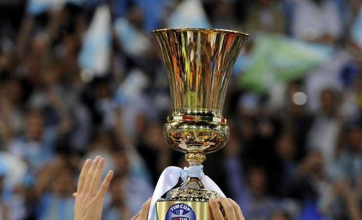 Lazio's Player Hold The Cup After Defeat