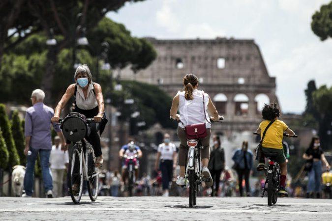 """Republic Day """"festa Della Repubblica"""" Celebrations, Covid 19 Coronavirus Phase Two Of The Emergency In Rome, Italy"""