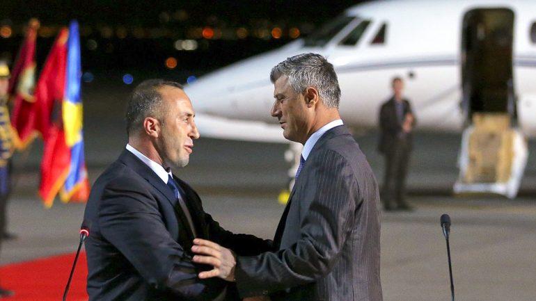 Ramush Haradinaj Arrives At The Airport In Pristina, Kosovo