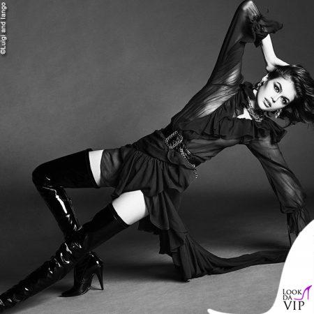 Kaia Gerber Outfit Saint Laurent Vogue Japan Foto Luigi And Iango 9