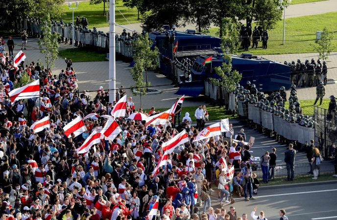 Image: File Photo: Opposition Demonstration To Protest Against Presidential Election Results In Minsk