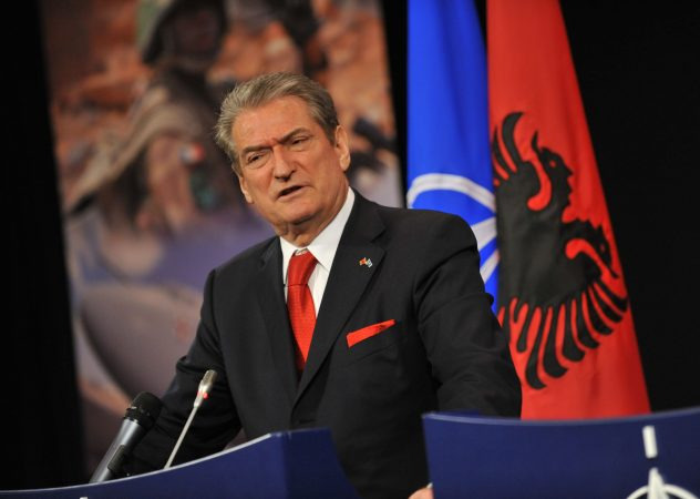 Ceremony To Mark The Accession To Nato Of Albania And Croatia Joint Press Conference With Sali Berisha (prime Minister Of Albania) And Ivo Sanader (prime Minister Of Croatia)