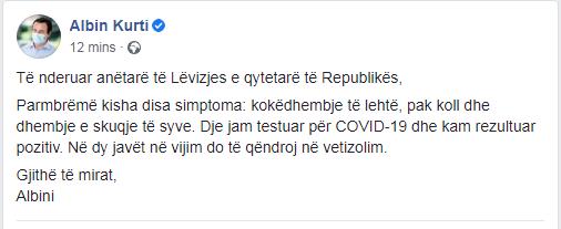 Albin Kurti Fb