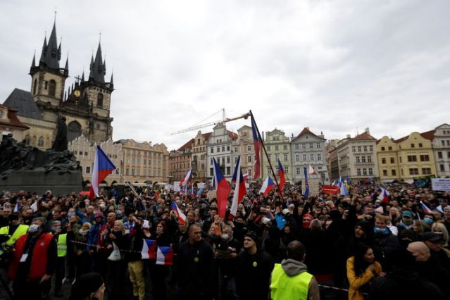 Demonstration Against The Czech Government's Covid 19 Restrictions In Prague
