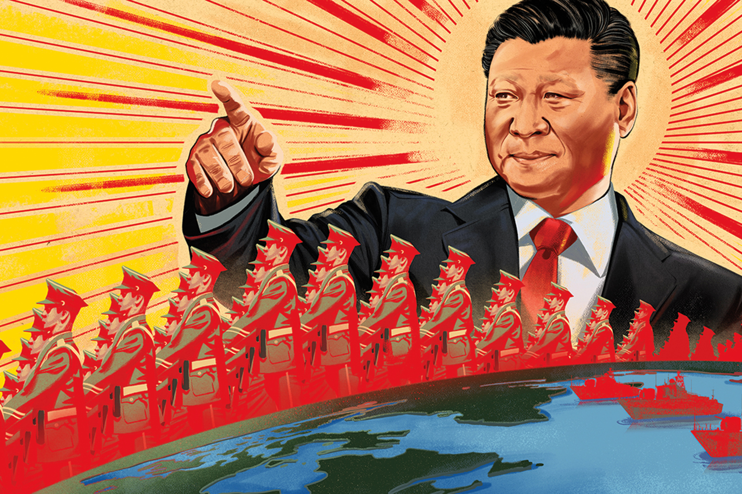 Xi Jinping China Defense Propaganda Maoist Jonathan Bartlett Illustration Article