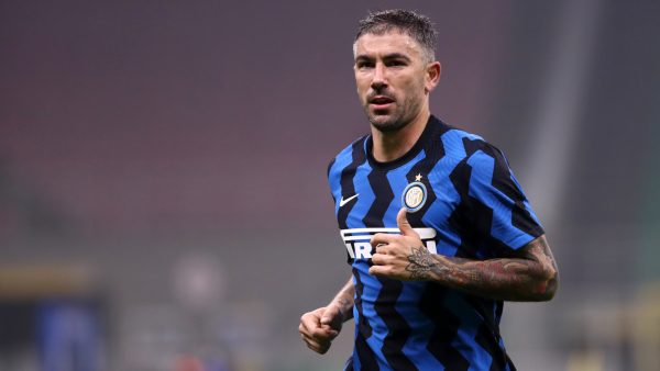 Aleksandar Kolarov Of Fc Internazionale During The Serie A