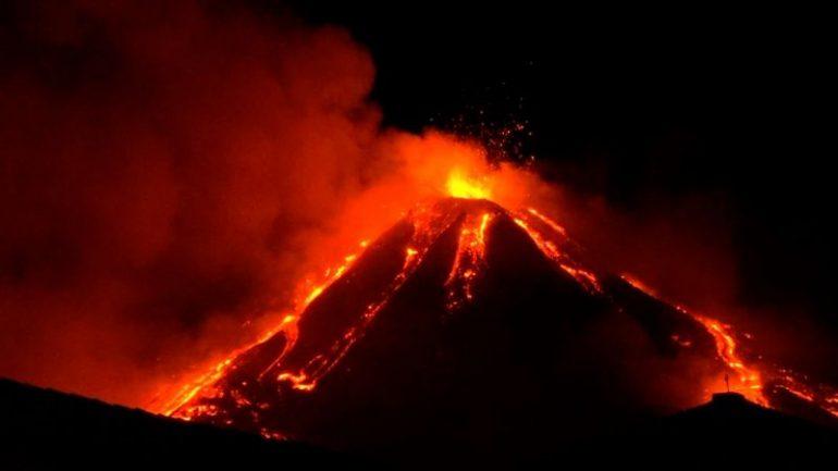 Italys Mount Etna Volcano Erupts