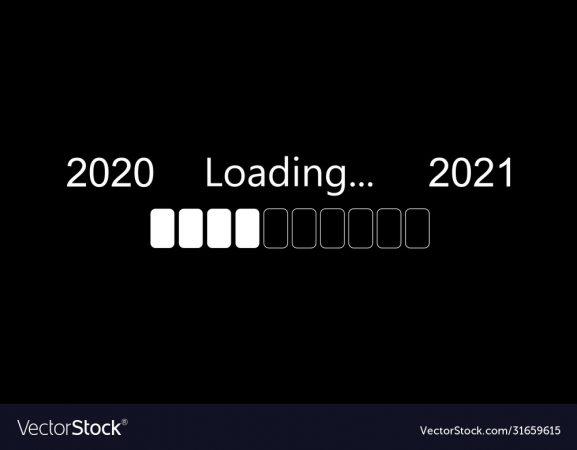Progress Bar Showing Loading Of 2021 Vector Illustration