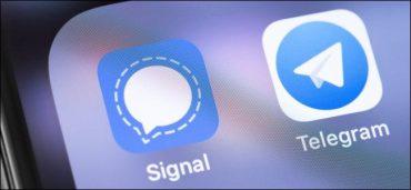 Signal And Telegram App Icons