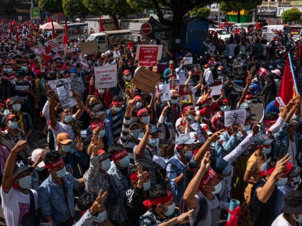 Protests Continue In Myanmar Despite Martial Law