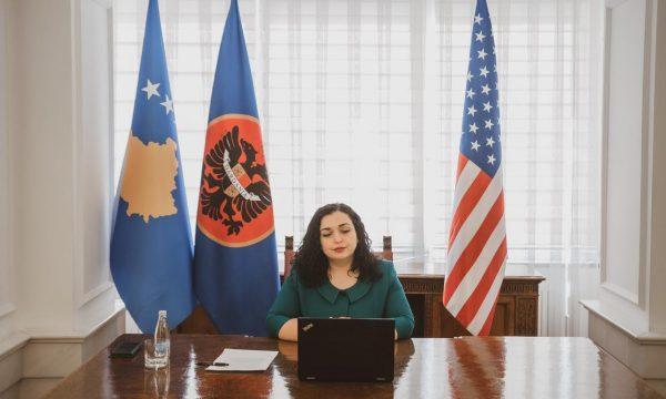 U.d. Presidentja Osmani Mbajti Takim Virtual Me Zëvendës Ndihmës Sekretarin Matthew Palmer 2 600x360