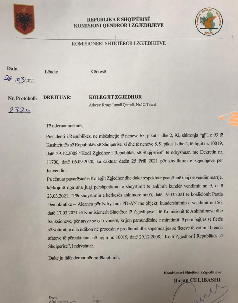 Letra Per Kolegjin