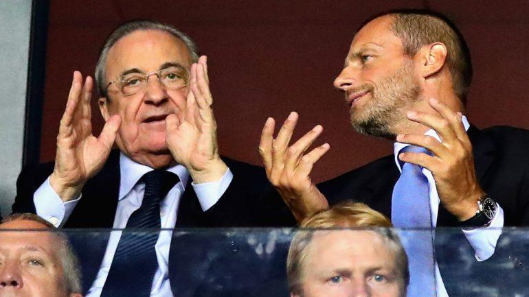Perez Ceferin Uefa Real Madrid