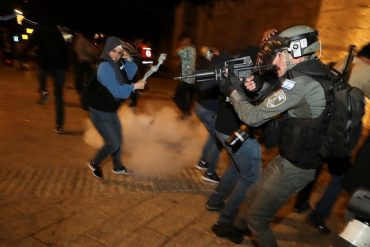 Hundreds Of Palestinian Protesters And Israeli Police Clashed Fiercely 1024x683