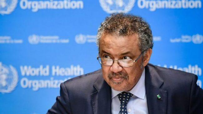 Le Directeur General De L Oms Tedros Adhanom Ghebreyesus Le 18 Octobre 2019 A Geneve En Suisse 6223530 696x392
